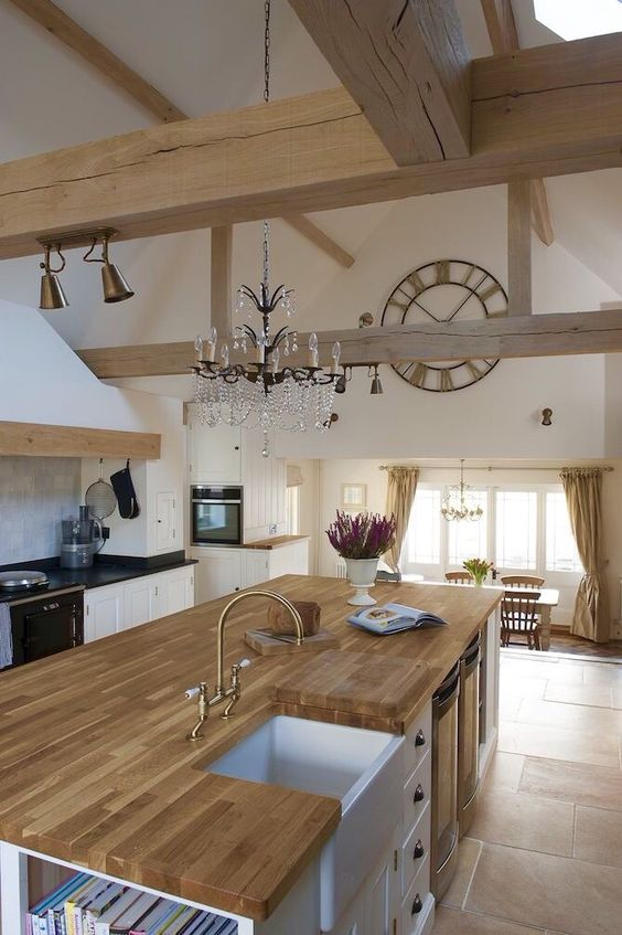 Love the vaulted ceilings and use of wood
