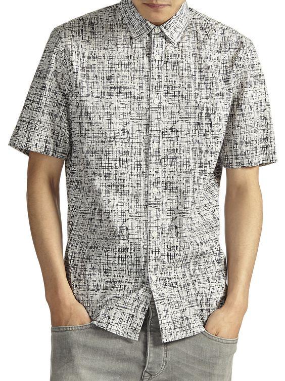 Grey Grid Monochrome Shirt