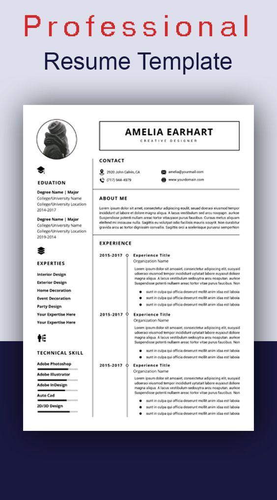 Resume Template Word Professional Resume Template Word Etsy Cv Kreatif Desain Kreatif
