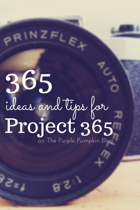 No need to be stuck on ideas for your photography! There are 365 Ideas and Tips for Project 365 on The Purple Pumpkin Blog here!