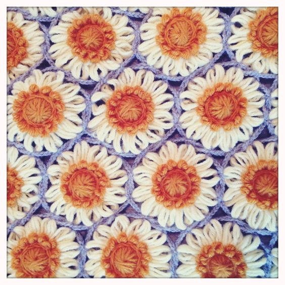 Vintage 70s Yellow Daisy Flower Afghan Throw Blanket Flower: Pinterest €� The World's Catalog Of Ideas