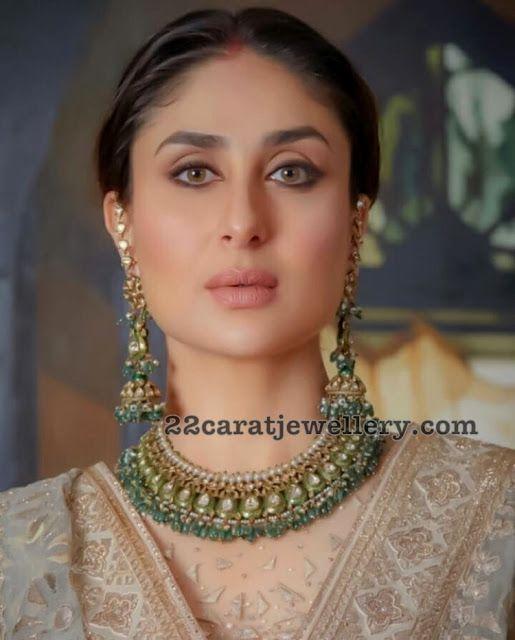 Kareena Kapoor Polki Kundan Choker Jewellery Designs Celebrity Jewelry Chokers Indian Jewellery Design