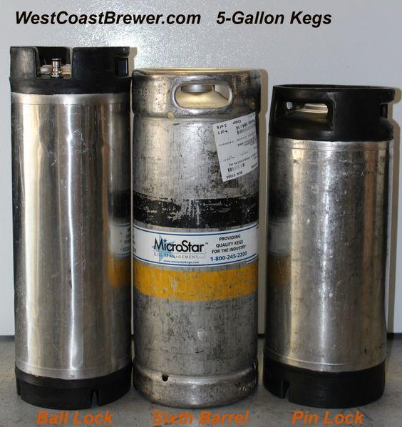 Different Types of 5 Gallon Beer Kegs:  http://westcoastbrewer.com/BrewersBlog/brewing-terms/keg/