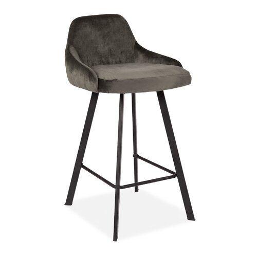 Antwan 65cm Bar Stool George Oliver Colour Grey In 2020 Bar Stools Upholstered Bar Stools Stool