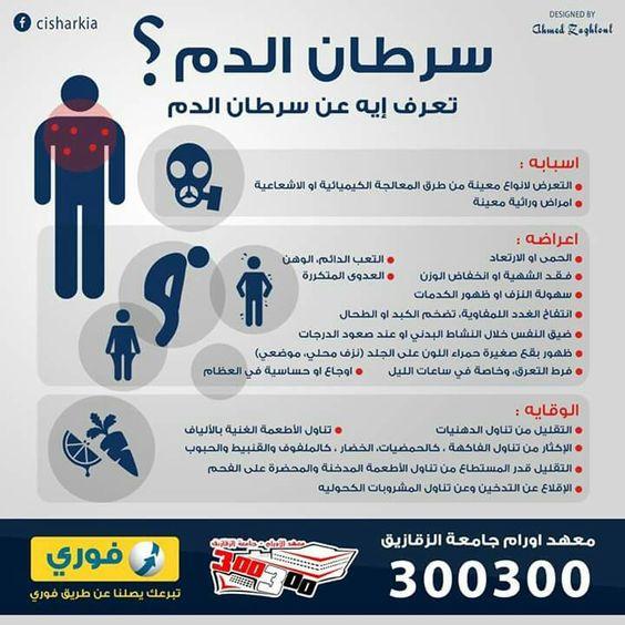 سرطان الدم Infographic Health Design