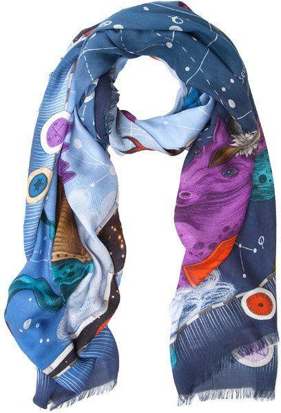 Pin for Later: Intergalactic Fashion You'll Want to Wear to Watch Star Wars  Emma Shipley Navy Constellation Modal-Blend Scarf (£280)