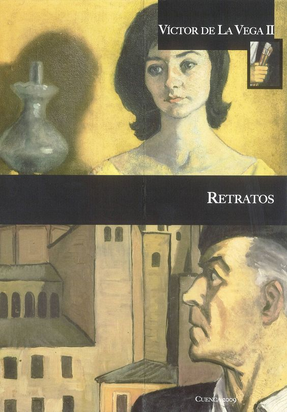 Retratos exposición del pintor conquense Víctor de la Vega en Caja