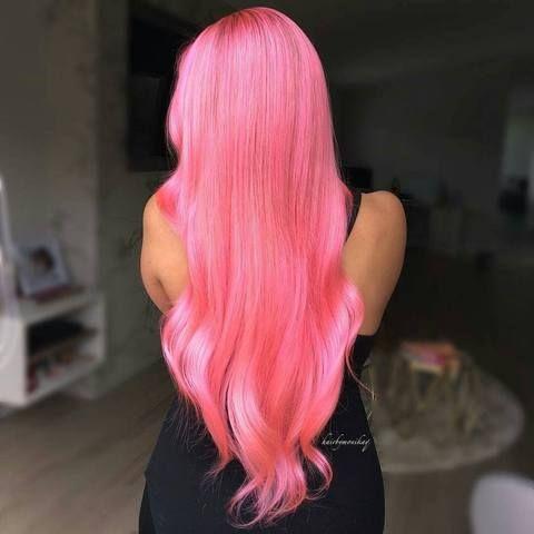 Pastel Pink Long Hair Dye Perfect Pink Hair Inspiration Hair Color Iroiro 70 Pink Natural Vegan Cruelty Free Semi Pe Pink Hair Hair Styles Long Hair Styles