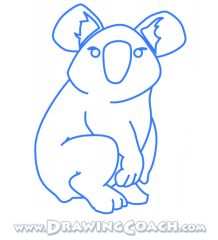 how to draw a cartoon koala easy