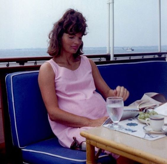 Jackie photographed while pregnant for Patrick in the summer of 1963