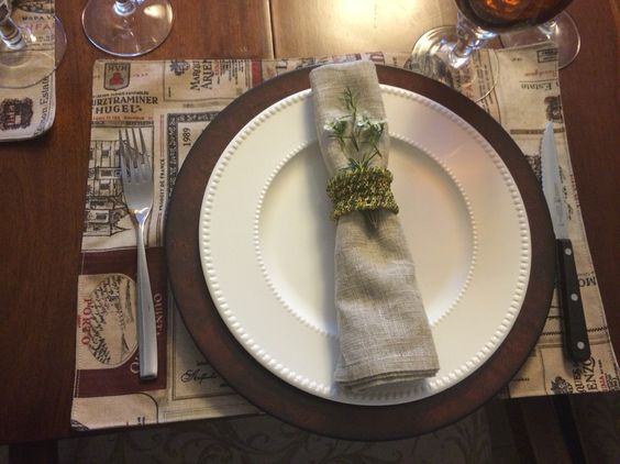Wine theme placemats
