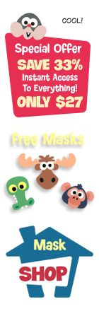 Printable Animal Masks For Kids To Make