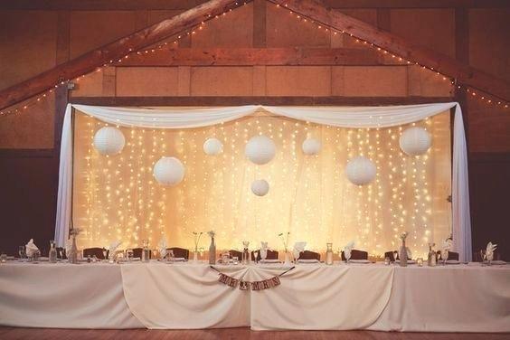 Head Table Ideas Light Backdrop Chic Rustic Head Table Diy Wedding