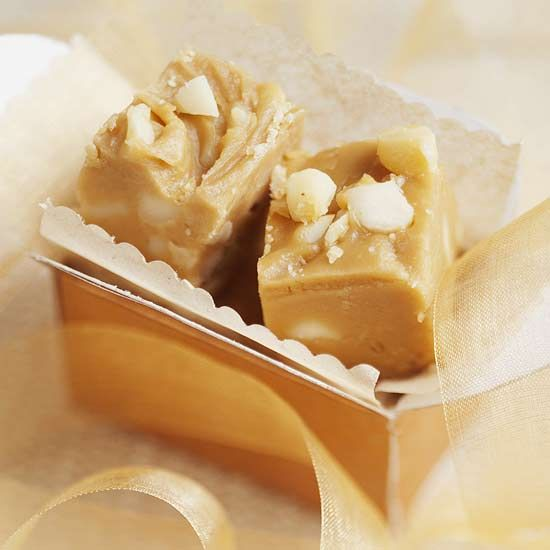 Honey and Macadamia Nut Fudge