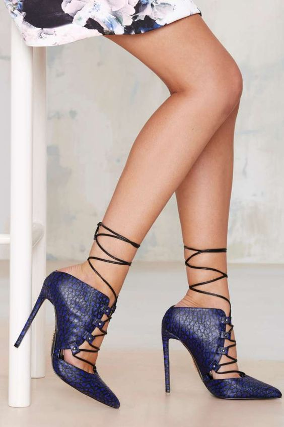 To the Limit Lace-Up Leather Pump - Heels