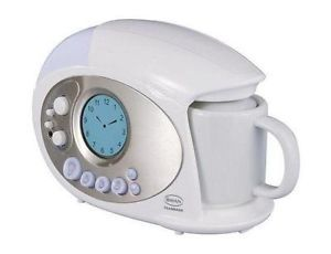 Coffee Maker Alarm Clock Radio : Coffee maker, Alarm clock radio and Radios on Pinterest