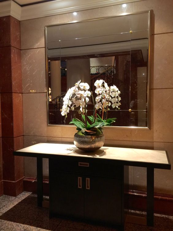 One of our triple orchid pieces at the Four Seasons Hotel.