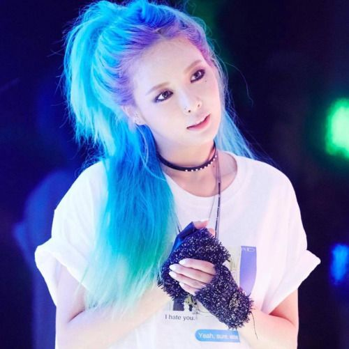 hyuna blue hair roll deep - Google Search: