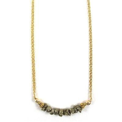 Golden Pyrite Nugget Necklace