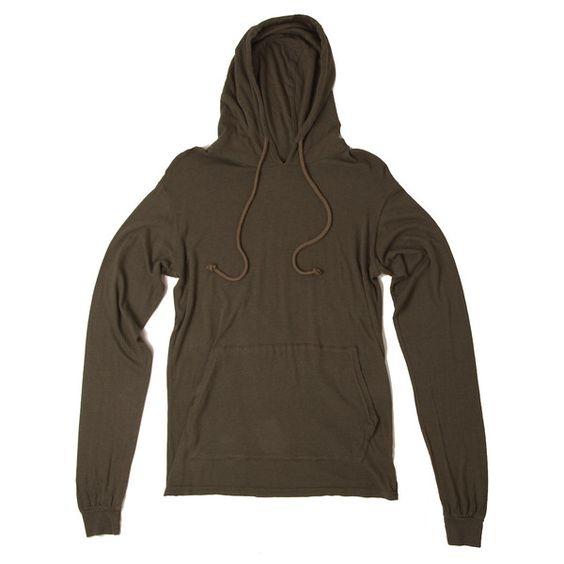Unisex Long Sleeve Hoodie in Forest Green by Jungmaven ($49) ❤ liked on Polyvore featuring tops, hoodies, sweatshirt hoodies, pullover hoodies, drawstring hoodie, hoodies pullover and long sleeve hoodie