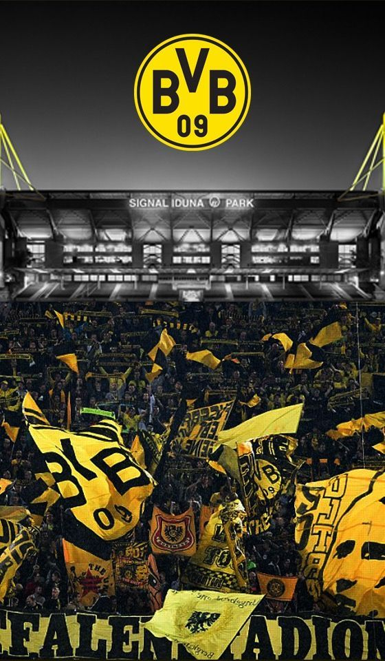 Borussia Dortmund Signal Iduna Park Muralha Amarela Futebol Europeu Papel De Parede Futebol