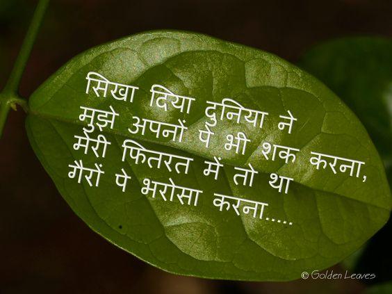 hindi shayari hindi quotes about life learnt from world