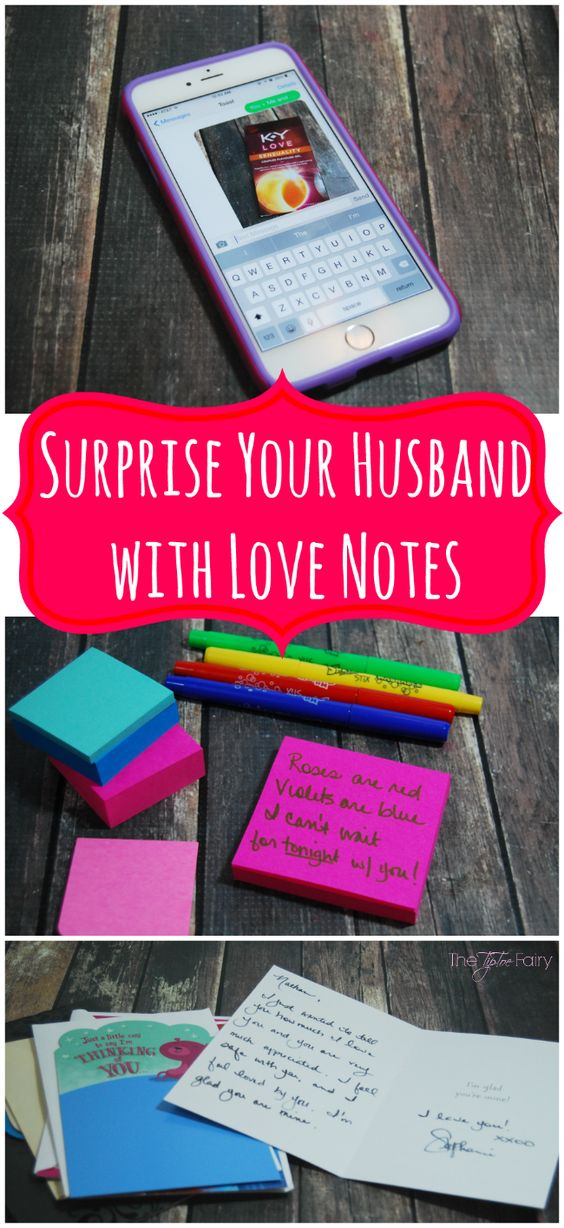 Spice it up with your husband! Come grab some fun ideas for love notes and flirty text messages!