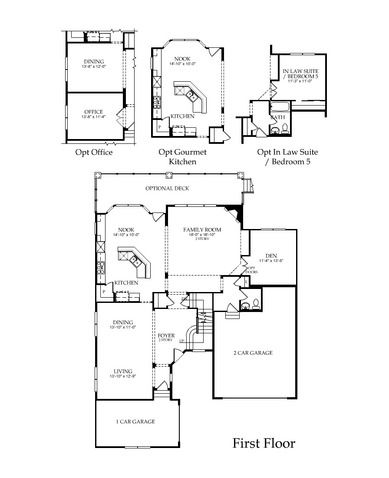 the first floor of the telluride plan from pulte homes in