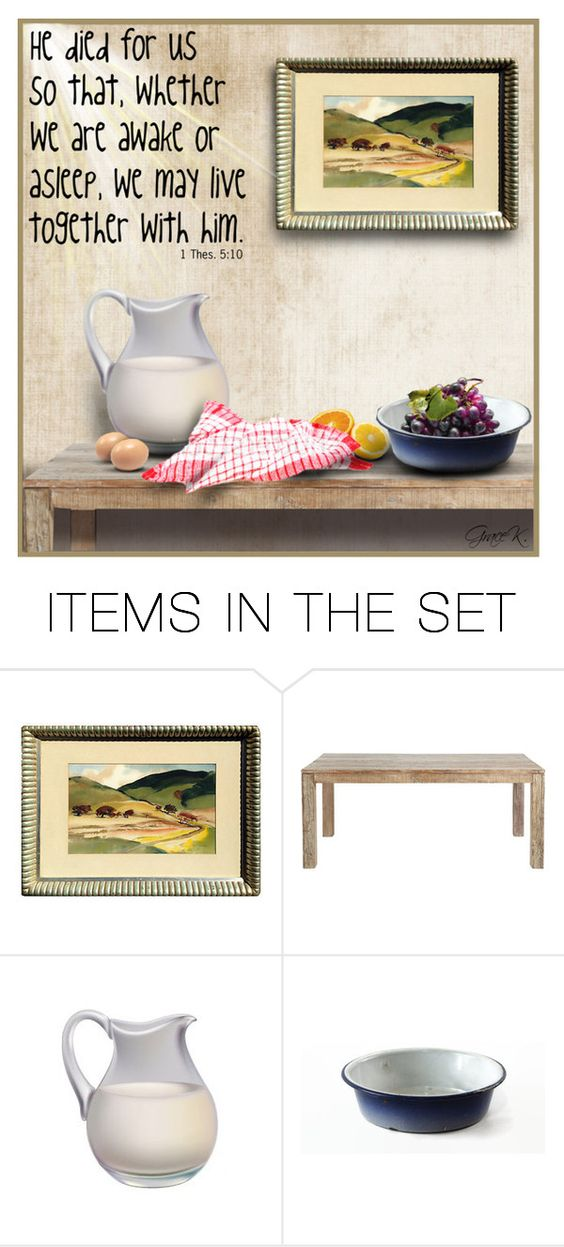 """""""1 Thessalonians 5:10"""" by gracekathryn ❤ liked on Polyvore featuring art"""