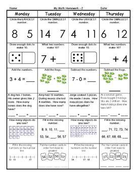 first grader homework