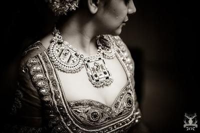stunning pankha design necklace, bridal necklace