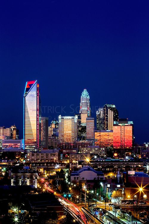 Skyline photography of the Charlotte NC downtown skyline. Photo, taken from the south side of Charlotte, is part on a regularly updated coll...