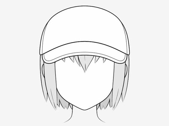 Vẽ nón bóng chày anime