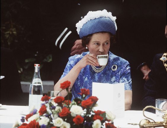 Queen at tea