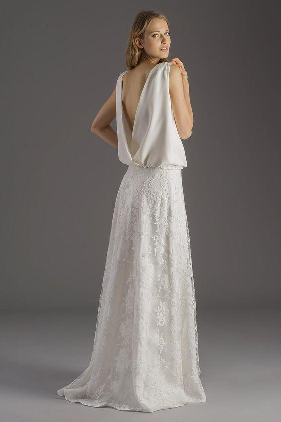 Robes de mariées. Collection BOHÈME ROCK by David Purves. Top Jeanne ...
