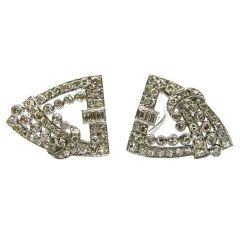 2.50ctw Art Deco Diamond Clips