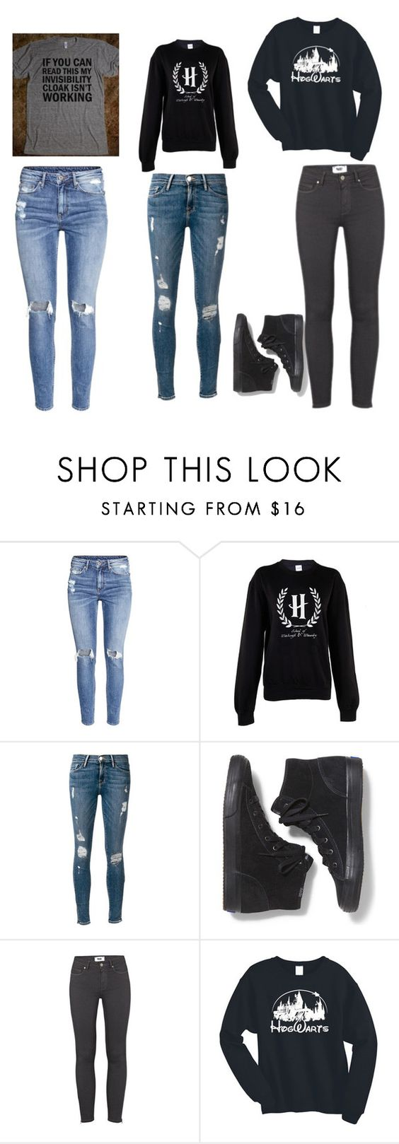 """Harry Potter"" by hogwartshermione ❤ liked on Polyvore featuring H&M, Frame Denim, Keds, Paige Denim, women's clothing, women, female, woman, misses and juniors"