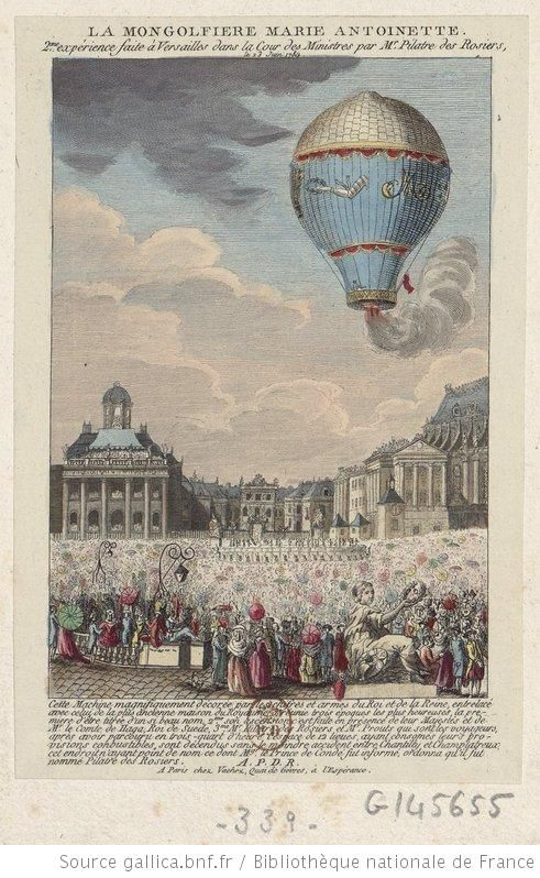 2nd experiment with an air balloon at Versailles