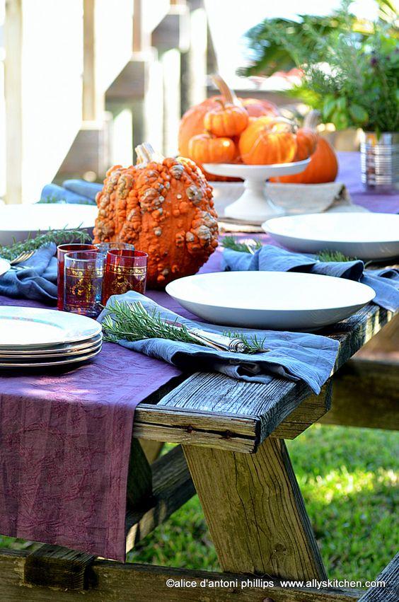 ~a boho picnic table~