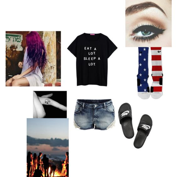 had a bonfire w/my bby last night by loui17 on Polyvore featuring polyvore fashion style NIKE VILA