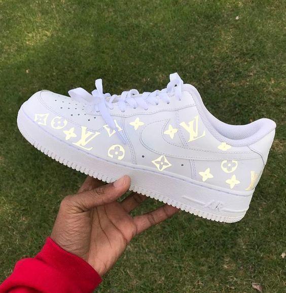 Luftwaffe 1 Louis Vuitton weiß # Damen # Sneakers # Sneakers ...
