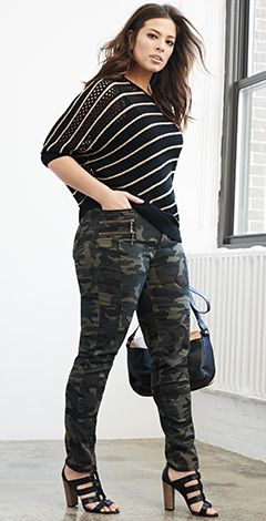 Plus-size clothing. Hate the shoes. Love the pants and top, though I'd probably mix and match.