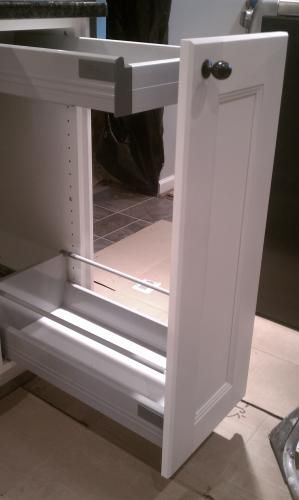 Other do do and we on pinterest - Ikea cabinet trash pull out ...