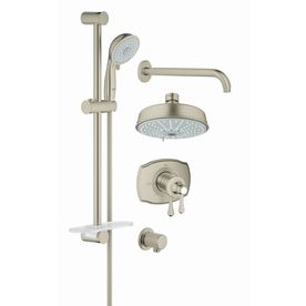 Grohe Grohflex 6.3125-In Brushed Nickel Showerhead With Hand Showers 3