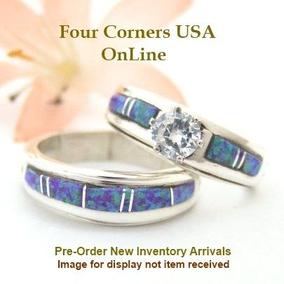 Four Corners USA Online - Size 5 1/2 Pre Order Purple Fire Opal Engagement Bridal Wedding Ring Set Native American Wilbert Muskett Jr WS-1533, $240.00 (http://stores.fourcornersusaonline.com/size-5-1-2-pre-order-purple-fire-opal-engagement-bridal-wedding-ring-set-native-american-wilbert-muskett-jr-ws-1533/)