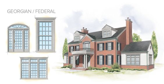 Georgian federal home style window door overview for Main architectural styles