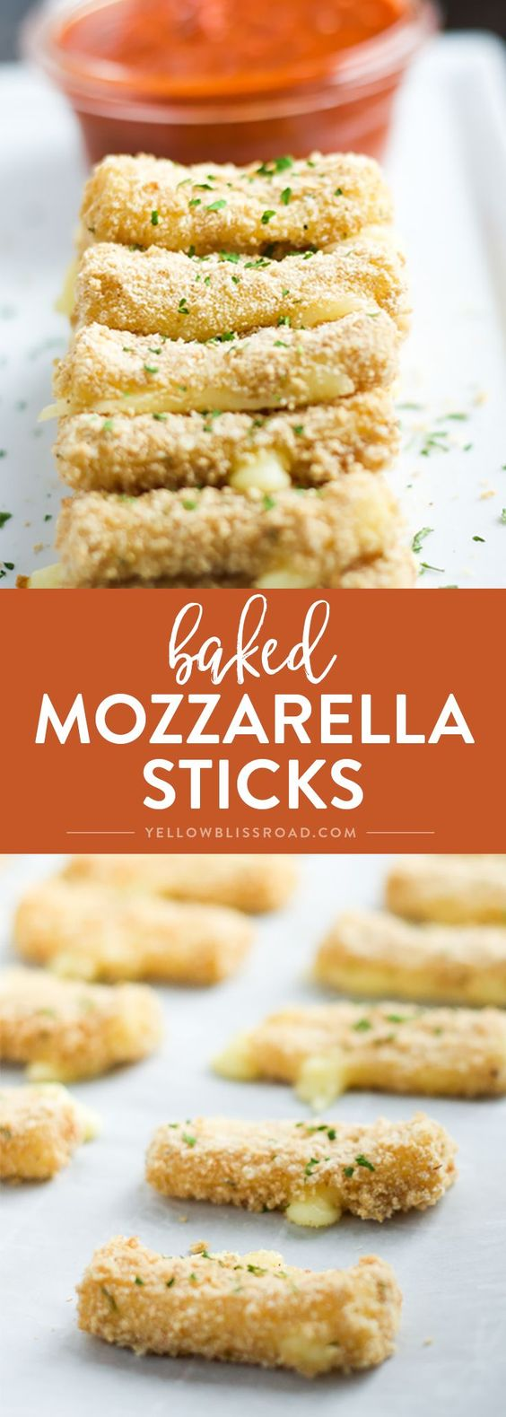Baked Mozzarella Sticks are the perfect snack or appetizer for Game Day.