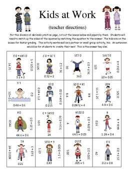 math worksheet : dividing decimals fun puzzle activity  decimal activities and  : Decimal Puzzle Worksheets