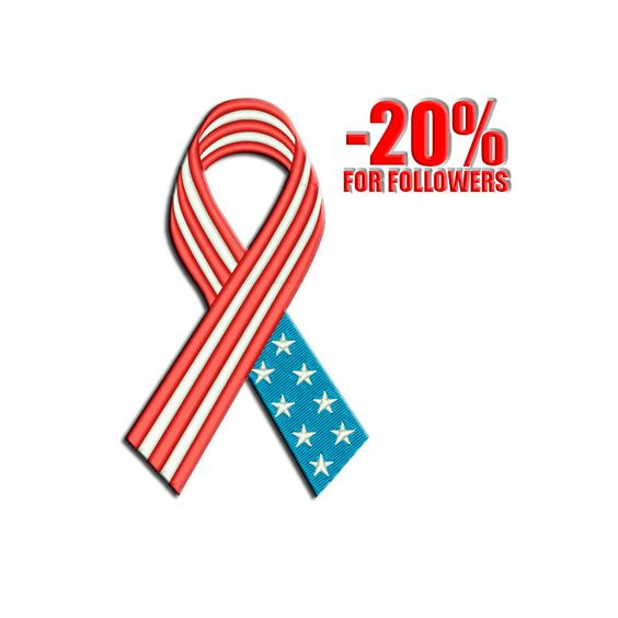 4th july embroidery - American ribbon embroidery design - American flag embroidery - USA embroidery - Memorial day - embroidery design by Freeembroidery on Etsy