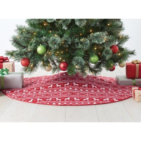 Fair Isle Reversible Christmas Tree Skirt Wondershop Target Christmas Tree Skirt Tree Skirts